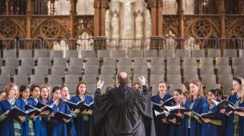COLLEGE CHOIR AT WINCHESTER CATHEDRAL